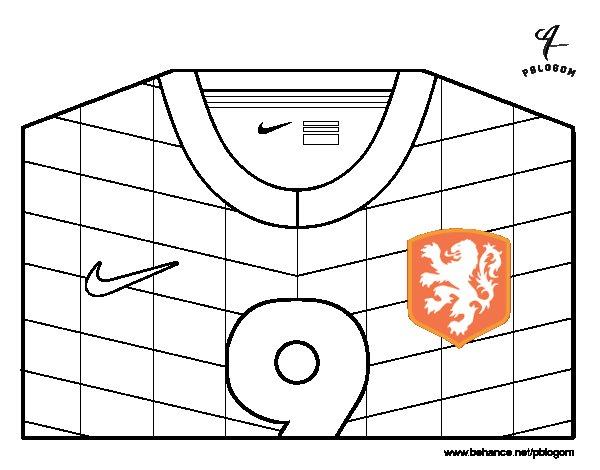 Dibujo de Camiseta del mundial de fútbol 2014 de Holanda para ...