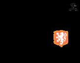 Dibujo de Camiseta del mundial de fútbol 2014 de Holanda para colorear