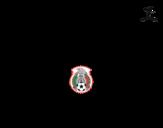 Dibujo de Camiseta del mundial de fútbol 2014 de México para colorear