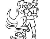 Dibujo de Canguro boxeador para colorear
