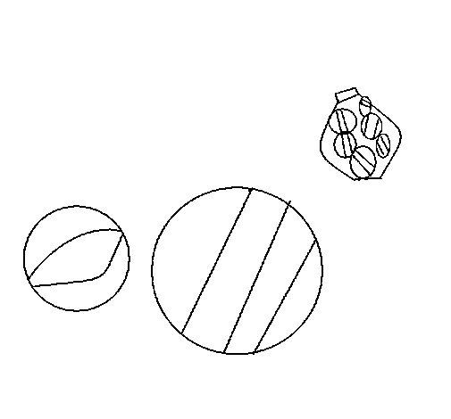 Dibujo de Canicas para Colorear