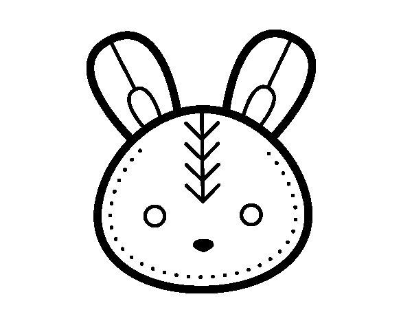 Dibujos De Conejitos Para Imprimir Y Colorear: Dibujos Conejitos Para Colorear. Simple Dibujo De Conejo