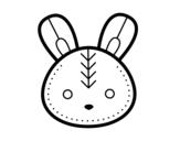 Dibujo de Cara de conejito de Pascua para colorear