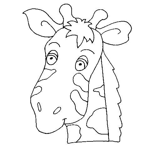 Dibujo de Cara de jirafa para Colorear