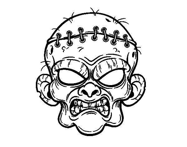 Dibujo de Cara de zombie para Colorear