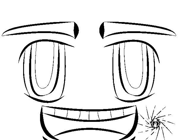 Dibujo de Cara sonriente para Colorear