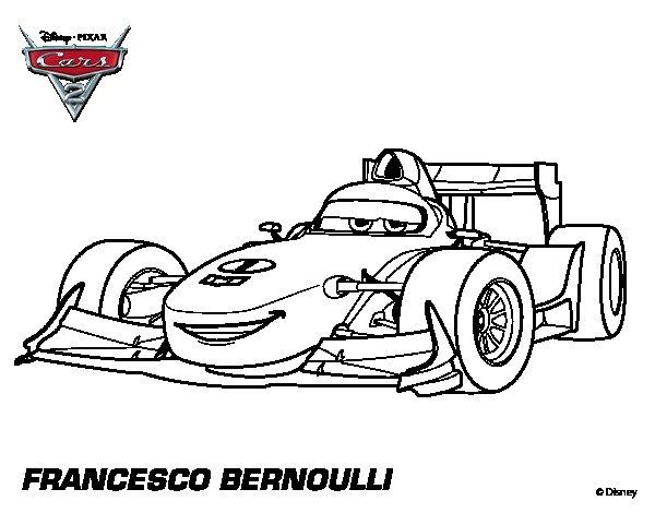 Dibujo de Cars 2 - Francesco Bernoulli para Colorear ...