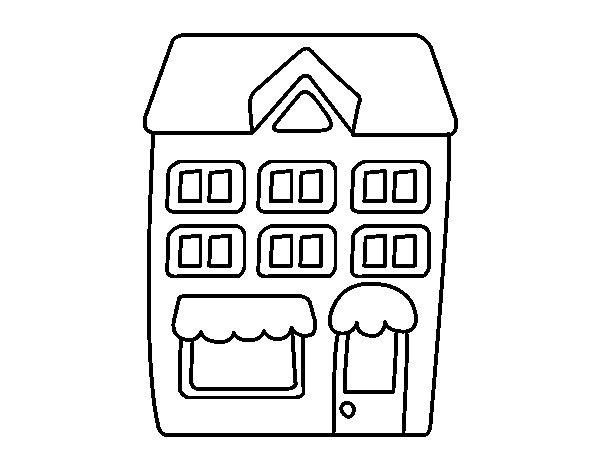 Edificios para imprimir y colorear - Imagui