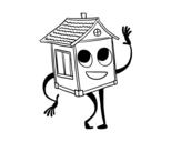 Dibujo de Casa saludando