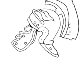 Dibujo de Casco romano II para colorear