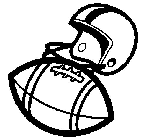 Dibujo de Casco y pelota para Colorear