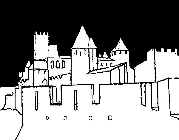 Dibujo de Castillo antiguo para Colorear