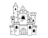 Dibujo de Castillo de cuento para colorear