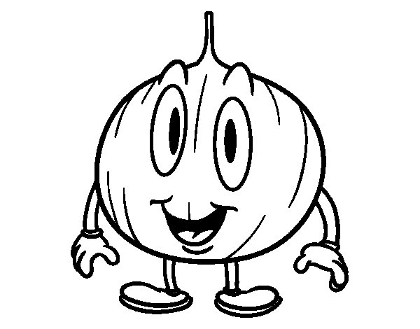 Dibujo de Cebolla animada para Colorear  Dibujosnet
