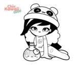 Dibujo de Chica Kawaii para colorear