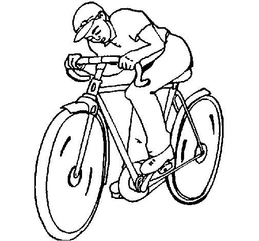 Dibujo de Ciclismo para Colorear