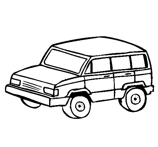 Dibujo de Coche 4x4 para Colorear  Dibujosnet