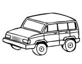 Dibujo de Coche 4x4 para colorear