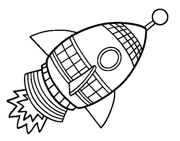 Dibujo de Cohete espacial para Colorear  Dibujosnet