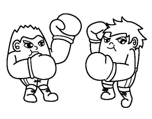 Dibujo de Combate de boxeo para Colorear
