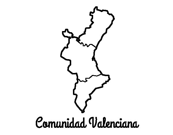 Dibujo de Comunidad Valenciana para Colorear