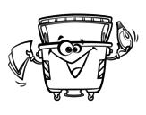 Dibujo de Contenedor de Envases para colorear
