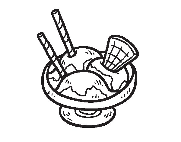 Dibujo de Copa de helado para Colorear  Dibujosnet