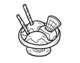 Dibujo de Copa de helado para colorear