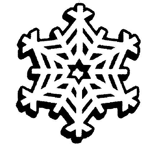 Dibujo de Copo de nieve 2 para Colorear
