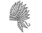 Dibujo de Corona de plumas india para colorear