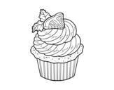 Dibujo de Cupcake de limón para colorear