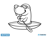 Dibujo de Decathlon - Morsa en kayak para colorear