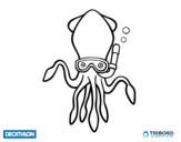 Dibujo de Decathlon - Sepia buceadora