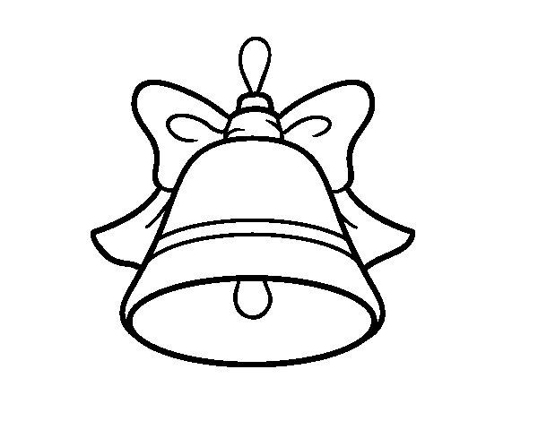 Dibujo de Decoración de Navidad campana para Colorear