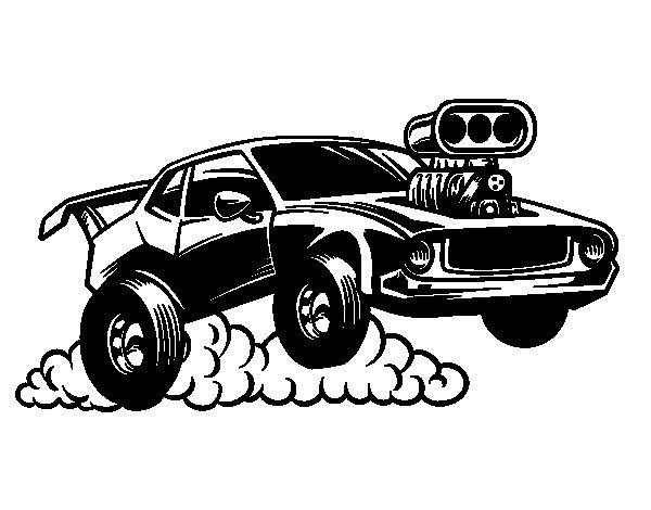 Dibujo de Deportivo muscle car para Colorear