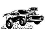 Dibujo de Deportivo muscle car