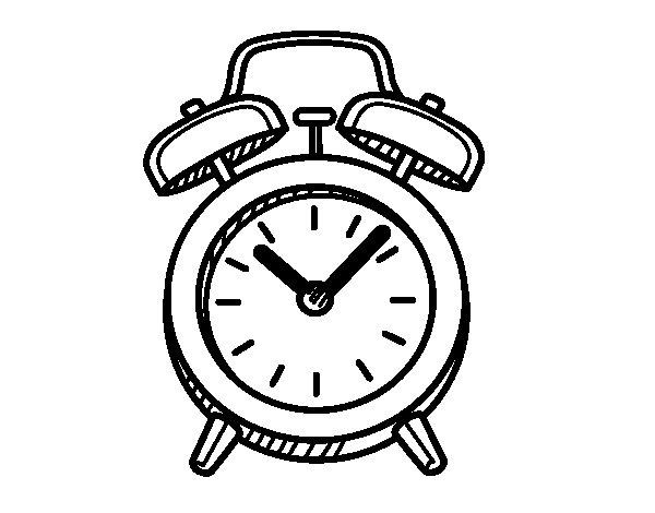 Dibujo de Despertador antiguo para Colorear
