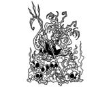 Dibujo de Diablo aburrido para colorear