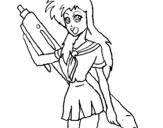Dibujo de Dibujo manga para colorear