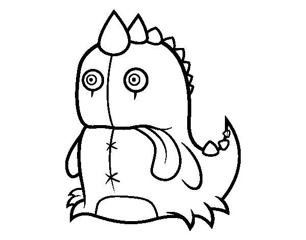 Dibujo de Dinosaurio monstruoso para Colorear