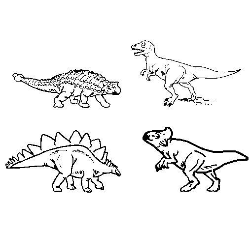 Dibujo de Dinosaurios de tierra para Colorear