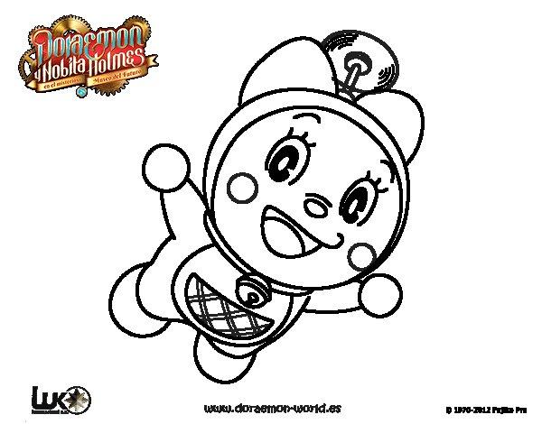 Dibujo de Dorami volando para Colorear - Dibujos.net