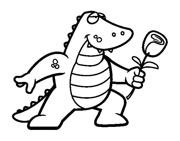 Dibujo de Dragón enamorado para Colorear - Dibujos.net