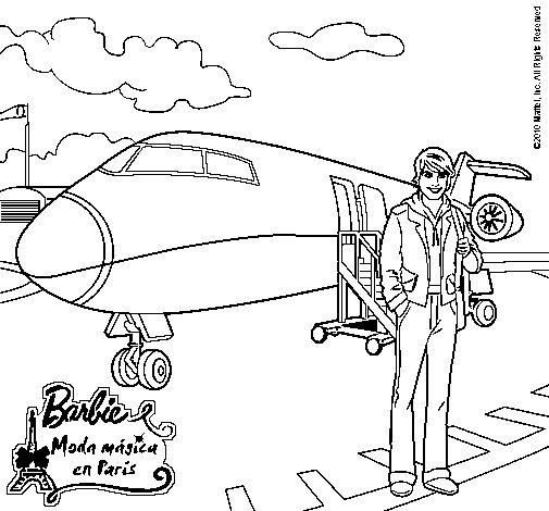 Dibujo de El amigo de Barbie para Colorear  Dibujosnet