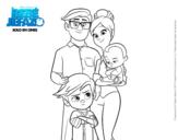 Dibujo de El Bebé Jefazo, Familia Templeton para colorear