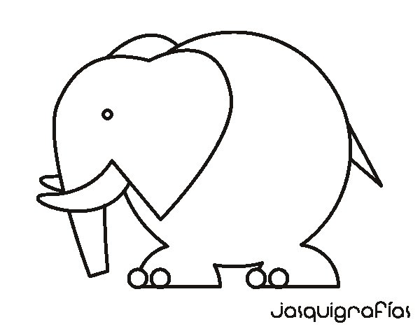 Dibujo de Elefante grande para Colorear