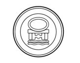 Dibujo de Entrada prohibida a vehículos que transportan productos contaminantes del agua para colorear