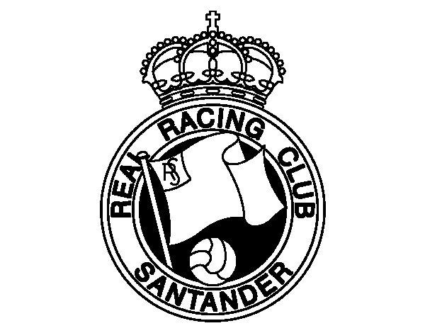Dibujo de Escudo del Real Racing Club de Santander para Colorear