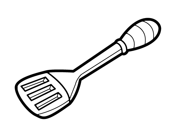 Utensilios De Cocina Para Pintar. Dibujo De Botella De