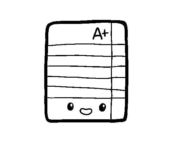 Dibujo de Examen excelente para Colorear